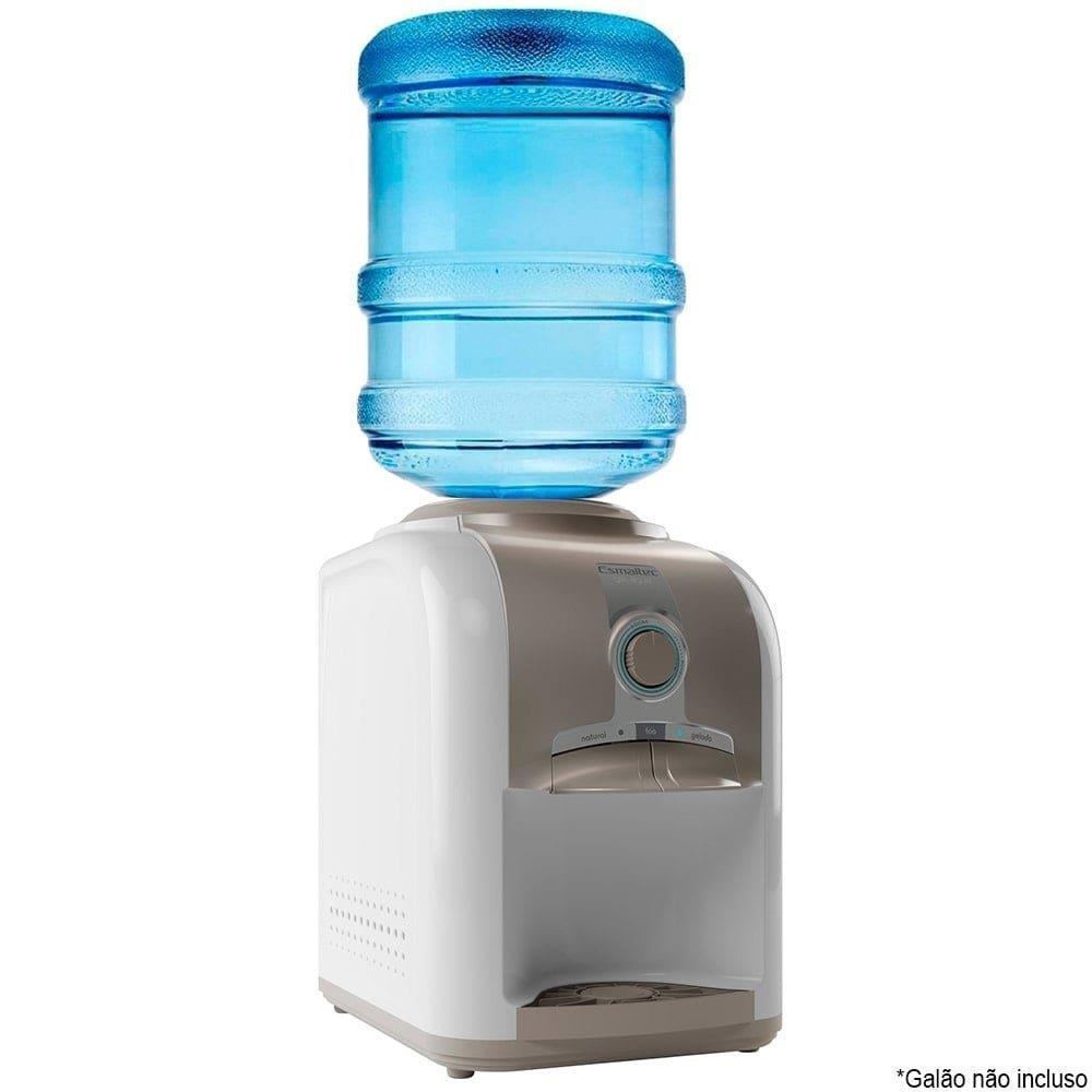 Bebedouro de Água de Mesa Esmaltec Gelagua EGM30 com Compressor Branco/Cinza