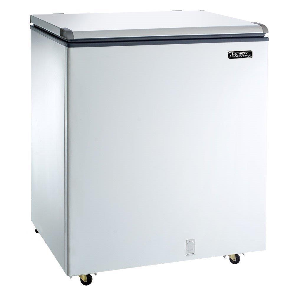 Freezer e Refrigerador Horizontal Esmaltec (Dupla Ação) 1 Tampa 215 Litros...
