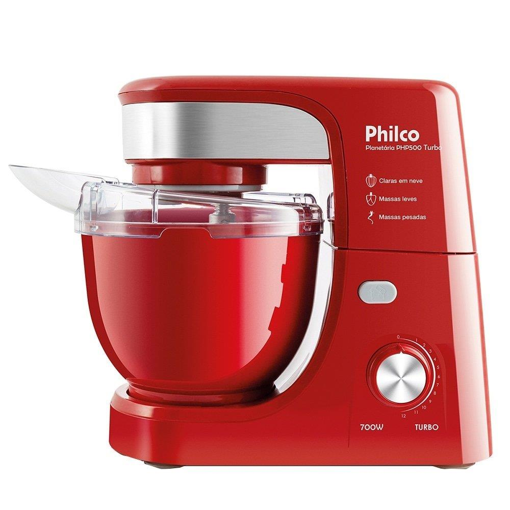 Batedeira Planetária Philco PHP500 Turbo, 12 Velocidades, 1 Tigela 500W,...
