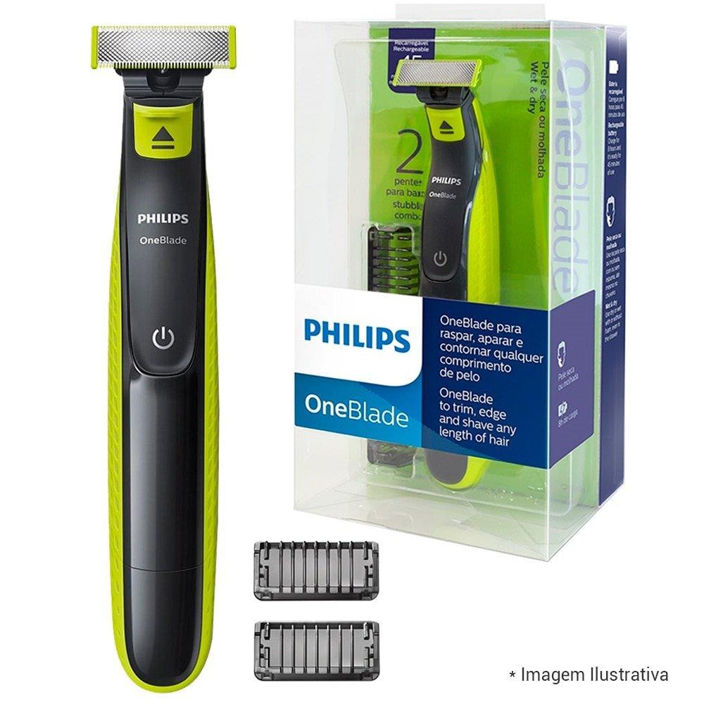 Aparador de Pelos Oneblade QP2521/10 Bivolt - Philips