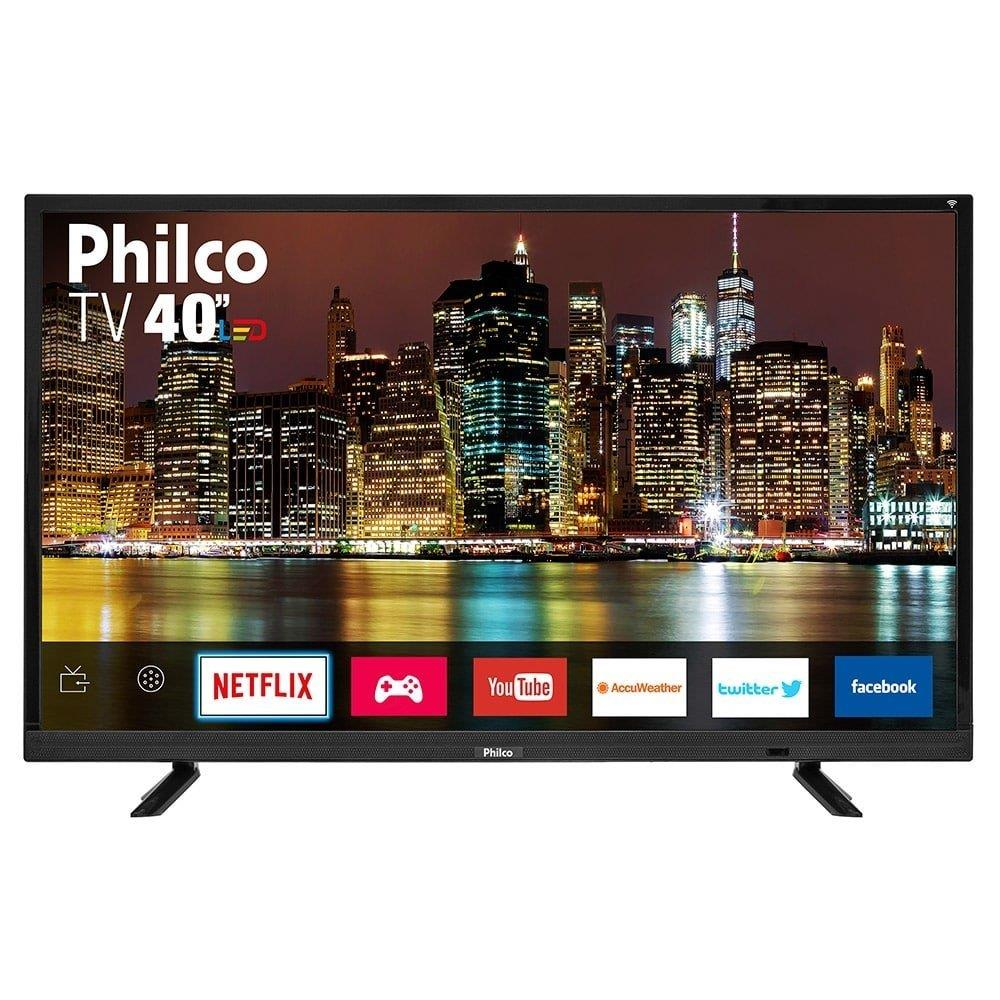 "Smart TV LED 40"" Philco PTV40E21DSWN Full HD com Android, Wi-Fi, 1 USB e 2 HDMI"