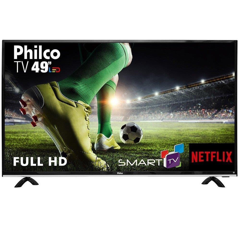 """Smart TV 49"""" LED Philco PTV49E68DSWN Full HD com Wi-Fi 1 USB 3 HDMI"""