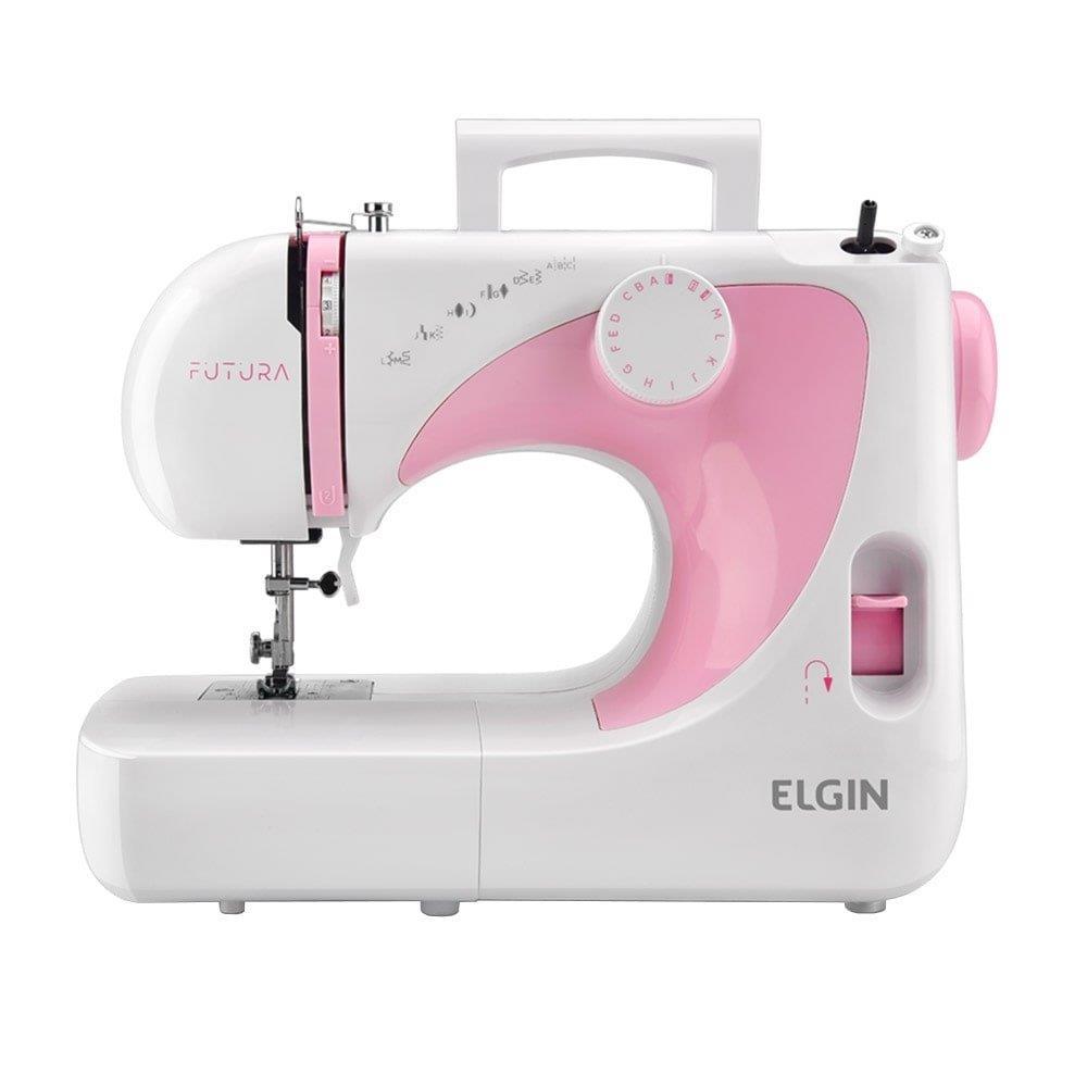 Máquina de Costura Portátil Elgin Futura JX2040 Branca