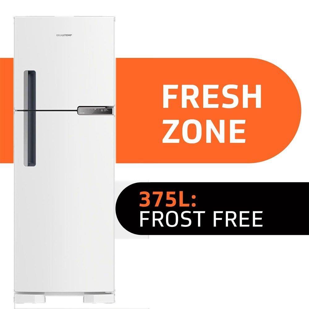 Geladeira/Refrigerador Brastemp Frost Free 2 Portas BRM44HBANA 375 Litros Branco