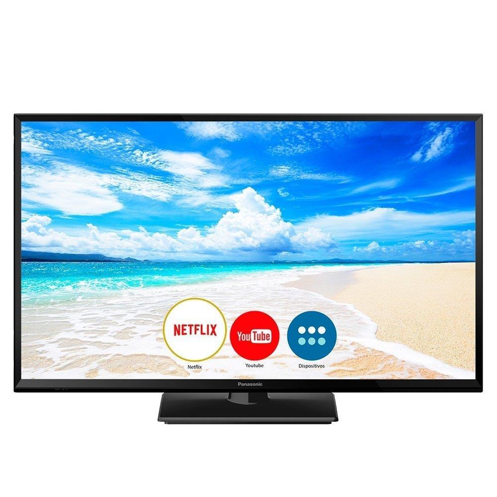 "Smart TV LED 32"" Panasonic TC-32FS600B HD com Wi-Fi, 1 USB, 2 HDMI, Hexa..."