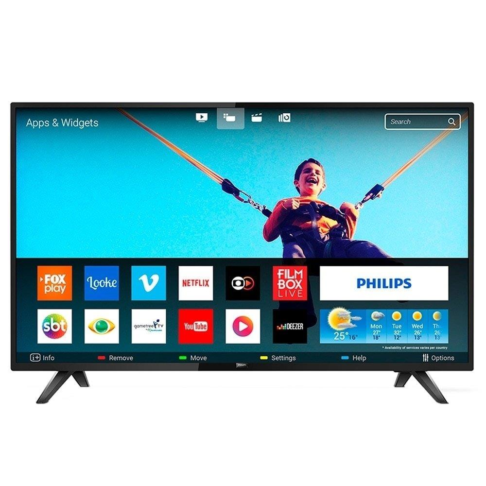 "Smart TV LED 43"" Philips 43PFG5813 Full HD com Wi-Fi, 2 USB, 2 HDMI, Conversor..."