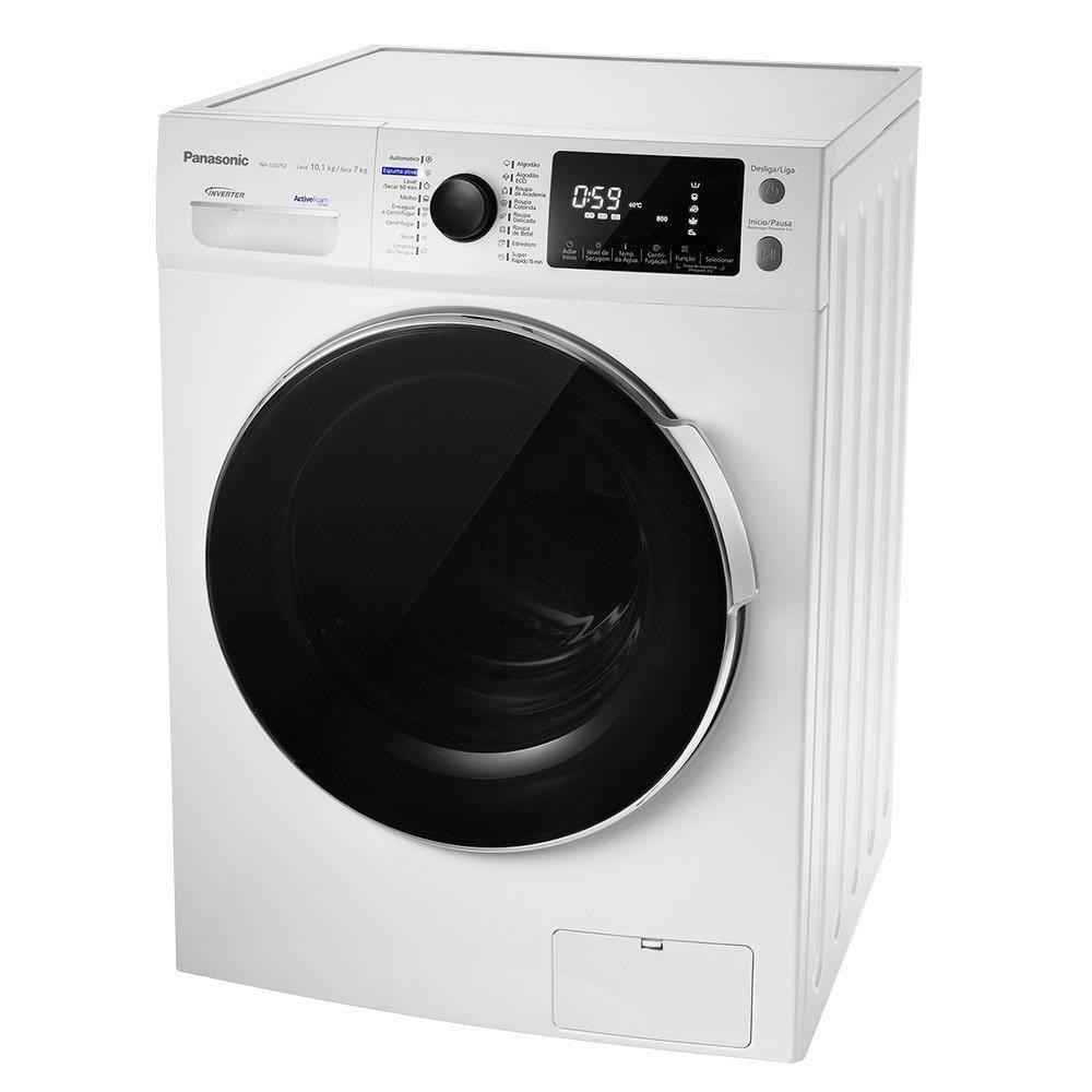Lava e Seca Panasonic 10,1kg NA-S107F2WBR Inverter Água Quente Branco