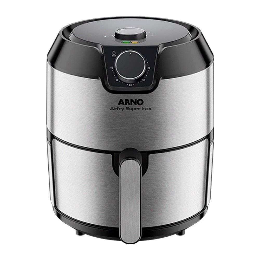 Fritadeira Sem Óleo Air Fryer Arno Super IFRY 4,2 Litros Inox