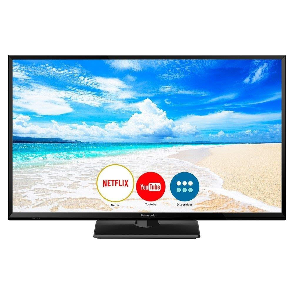 "Smart TV LED 32"" Panasonic TC-32FS600B HD com Wi-Fi, 2 HDMI, 2 USB e My Home..."