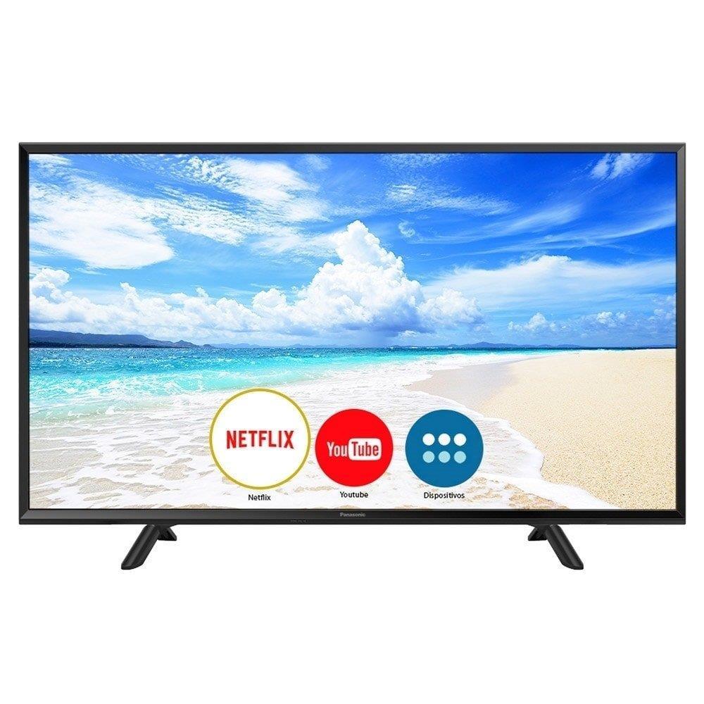 "Smart TV LED 40"" Panasonic TC-40FS600B Full HD com Wi-Fi, 2 USB e My Home..."
