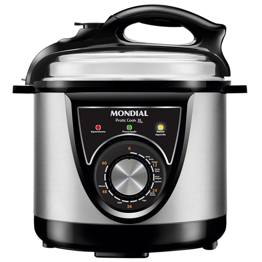 Panela Elétrica de Pressão Mondial Pratic Cook 3 Litros