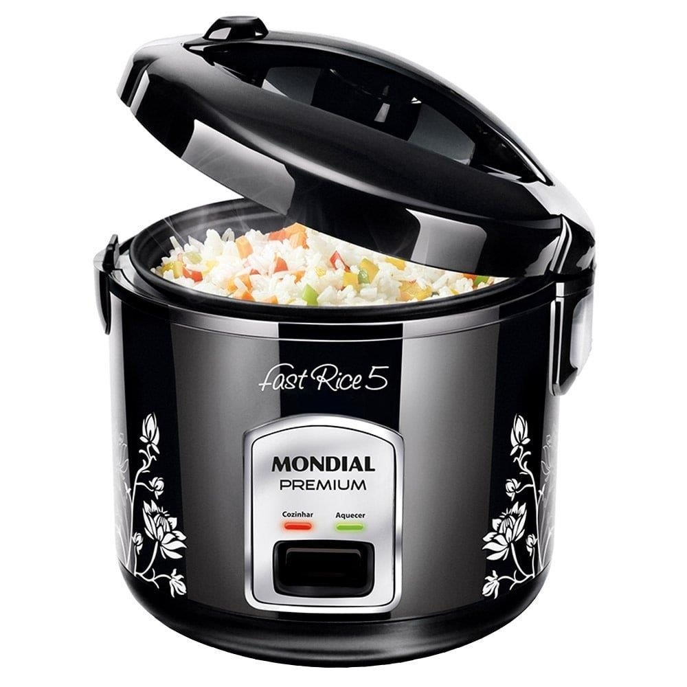 Panela Elétrica de Arroz Mondial Fast Rice Premium NPE-08 5 Xícaras Preta