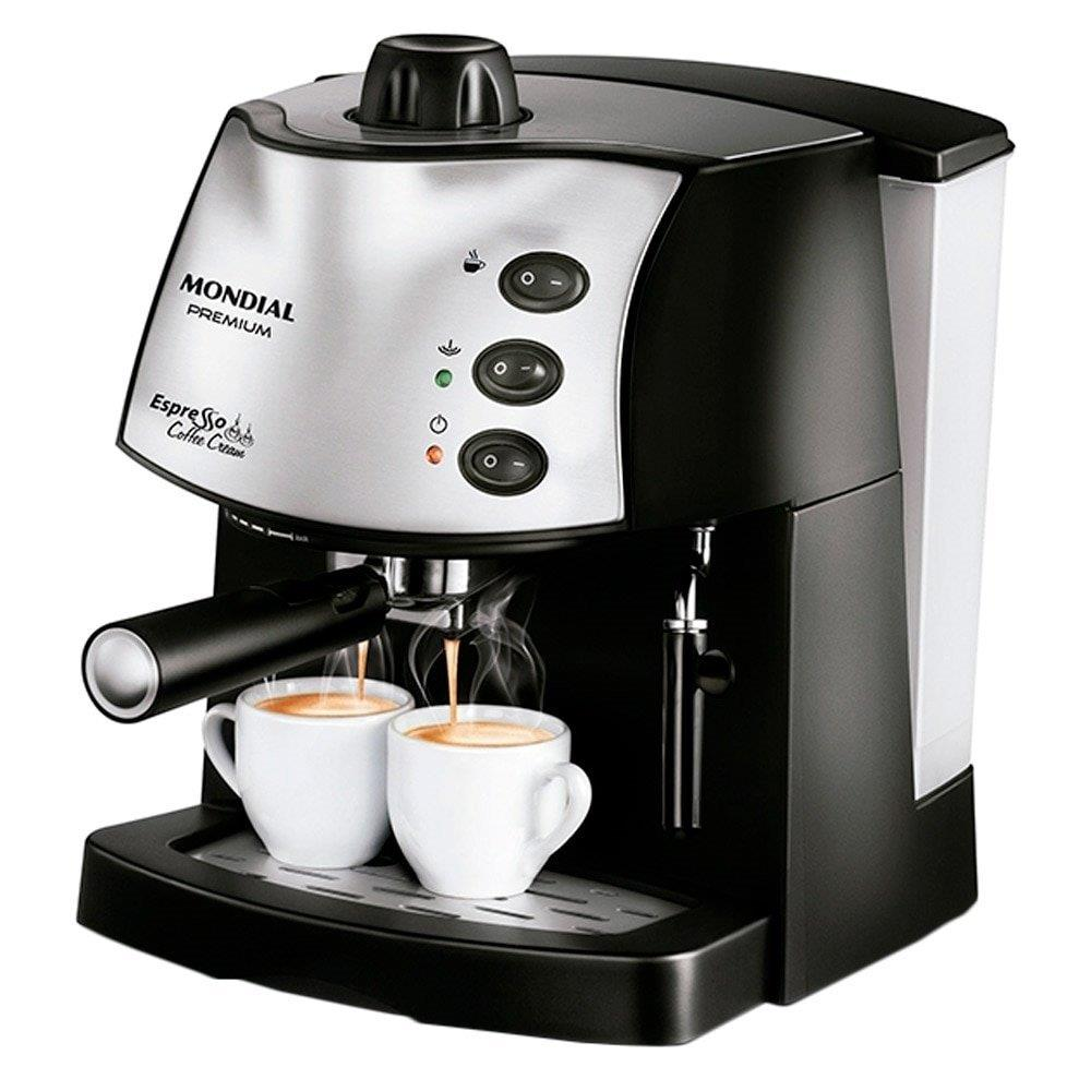 Cafeteira Expresso Mondial C-08 Coffe Cream Premium Preto