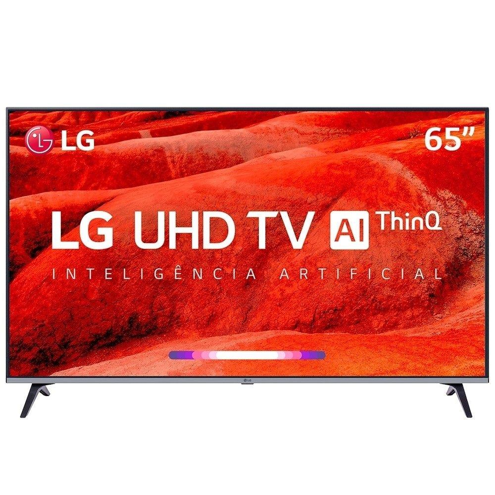 "Smart TV 65"" LED LG 65UM7520PSB 4K com Wi-Fi, 2 USB, 4 HDMI e 60Hz"