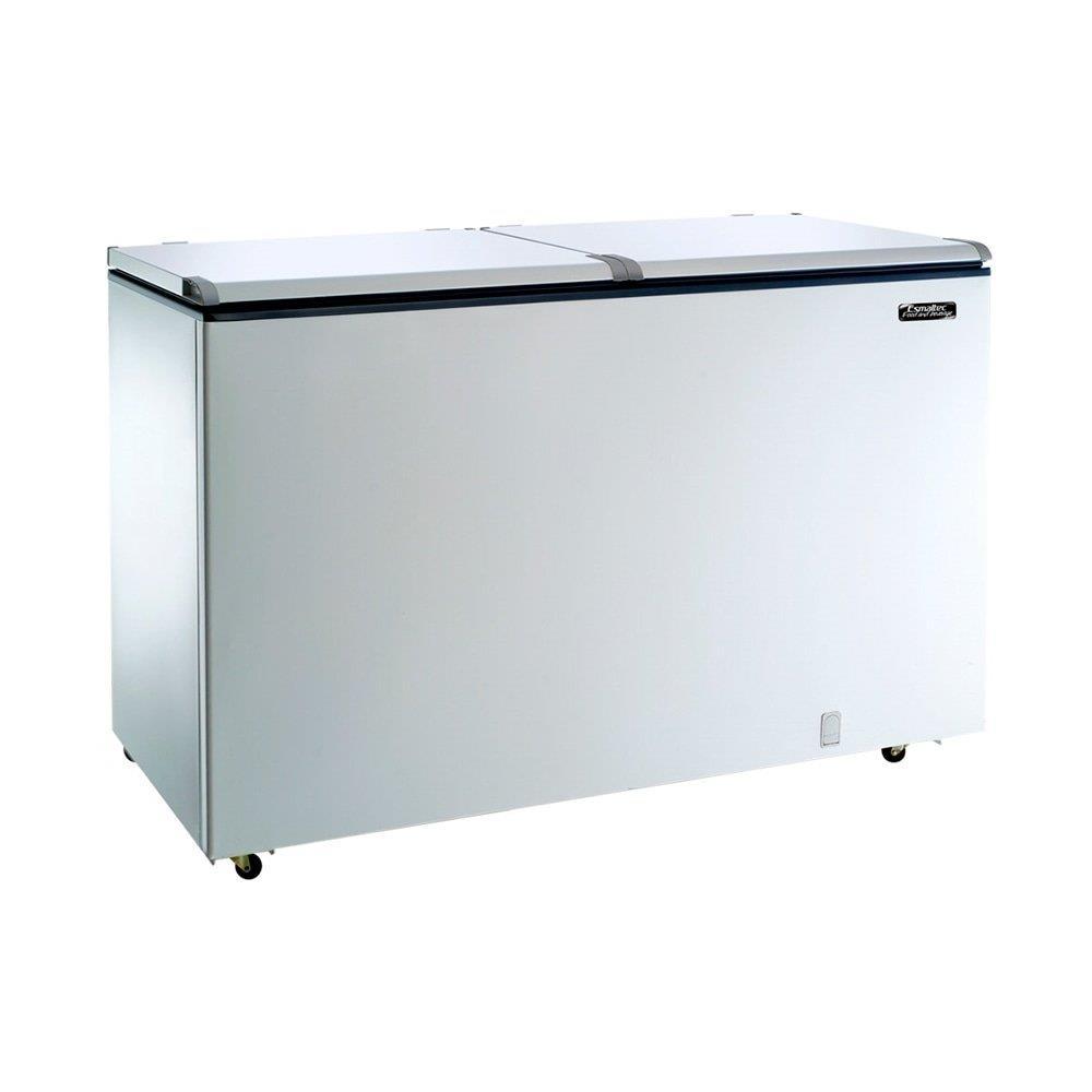 Freezer e Refrigerador Horizontal Esmaltec (Dupla Ação) 2 Tampas 468 Litros...