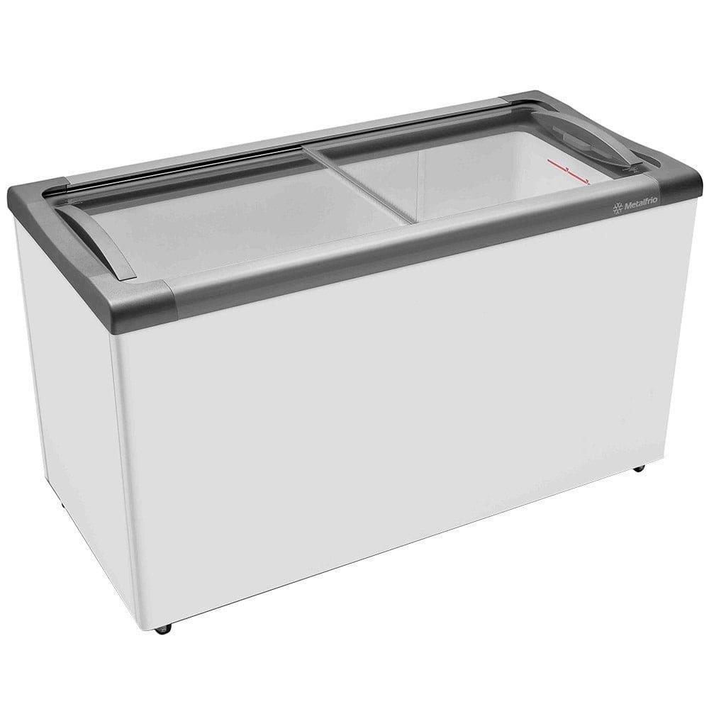 Freezer Horizontal Metalfrio NF40S Tampa de Vidro para Sorvetes e Congelados...