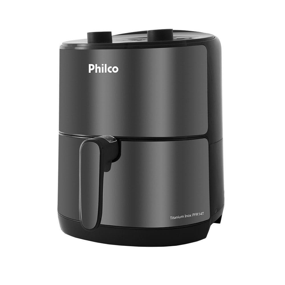 Fritadeira Air Fryer Philco PFR14T Titanium 4L, 1500W, Inox