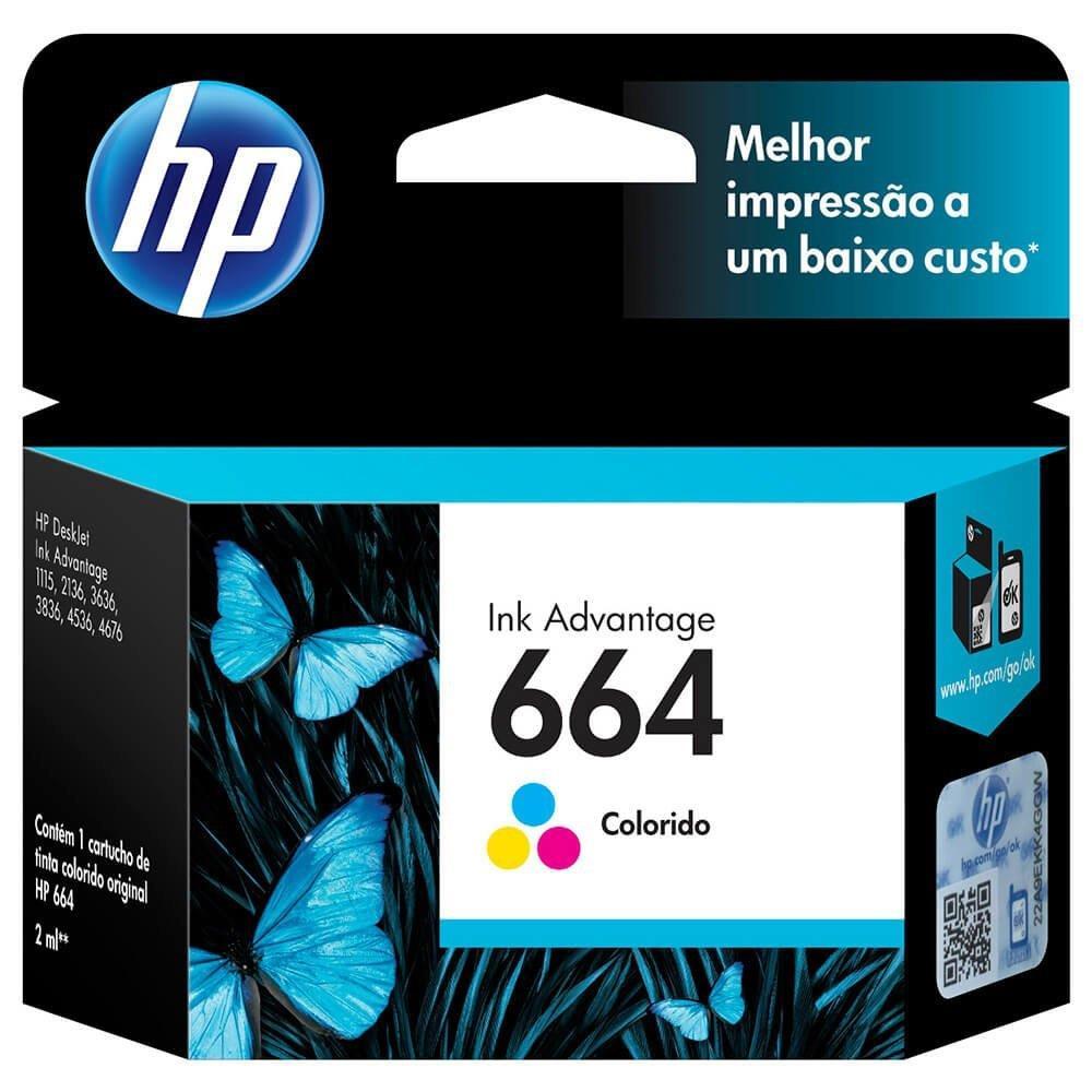 Cartucho Original HP 664 F6V28AB INK Color
