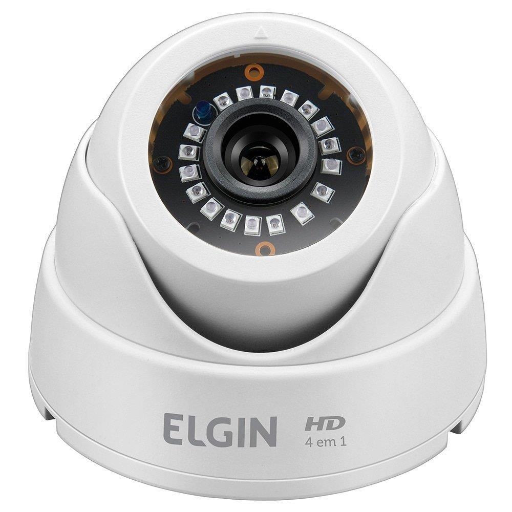 Câmera de Monitoramento AHD Elgin Lentes Dome, 24 LEDs, Night Vision, Sensor...