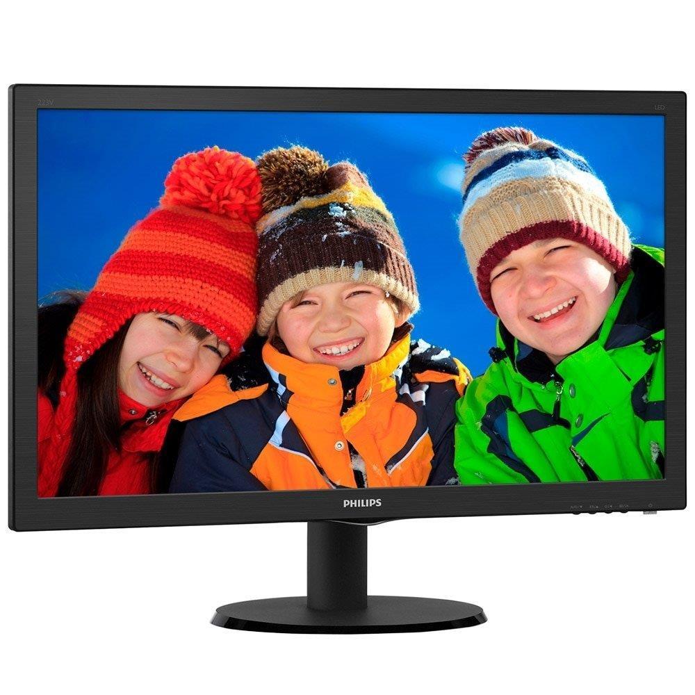 "Foto 2 - Monitor 21,5"" LED Full HD 223V5LHSB2 Widescreen VGA HDMI - Philips"