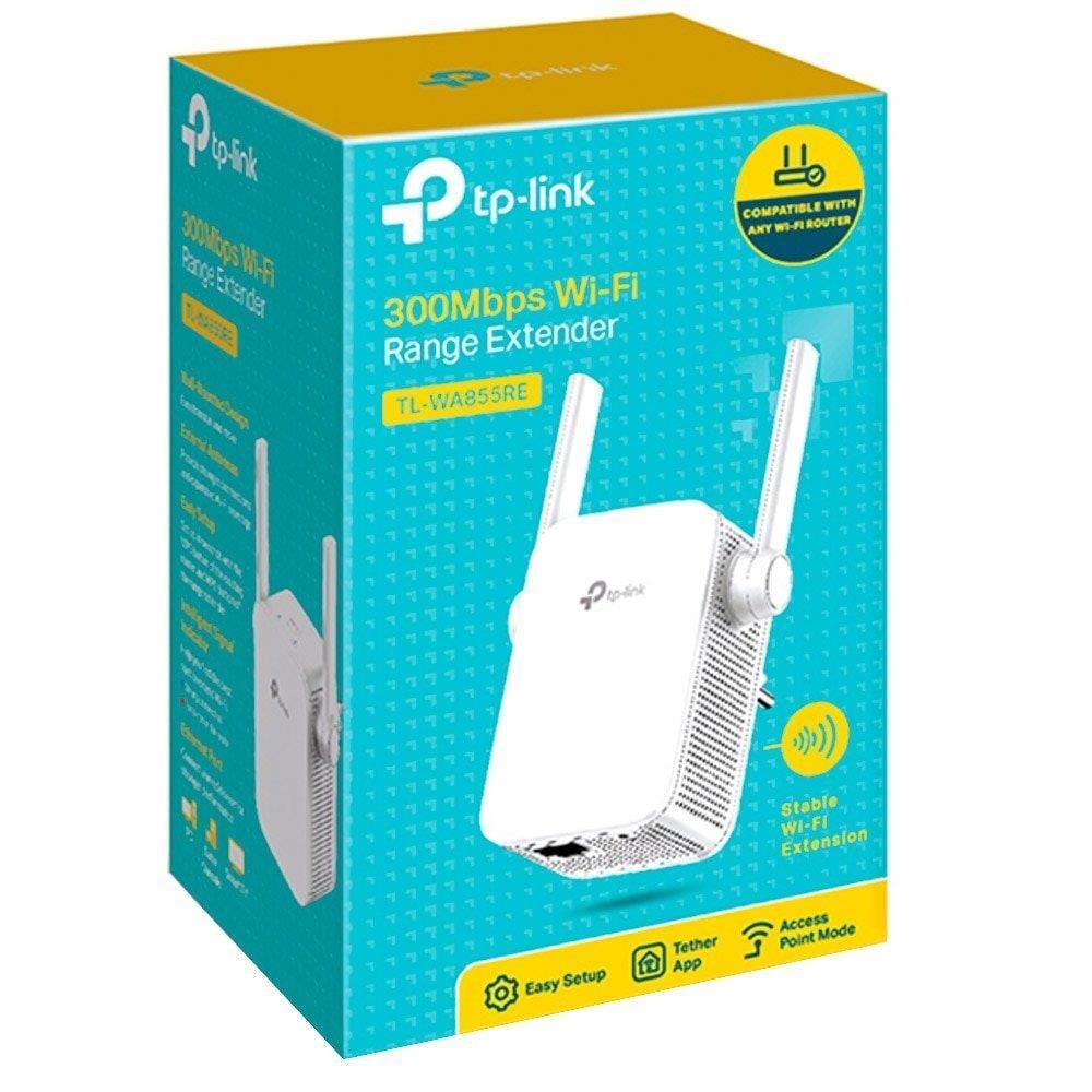 Foto 3 - Repetidor de Sinal TP Link Universal TL-WA855RE V3 300Mbps N300 2 Antena Externa MIMO