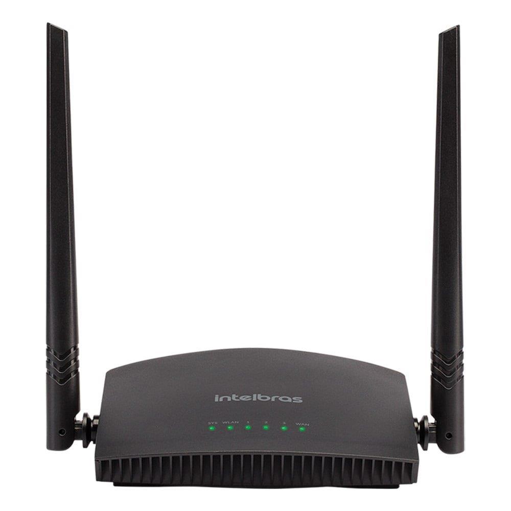 Roteador Wireless Intelbras RF 301K, 300Mbps, 2 antenas fixas de 5dBi, 3 portas...