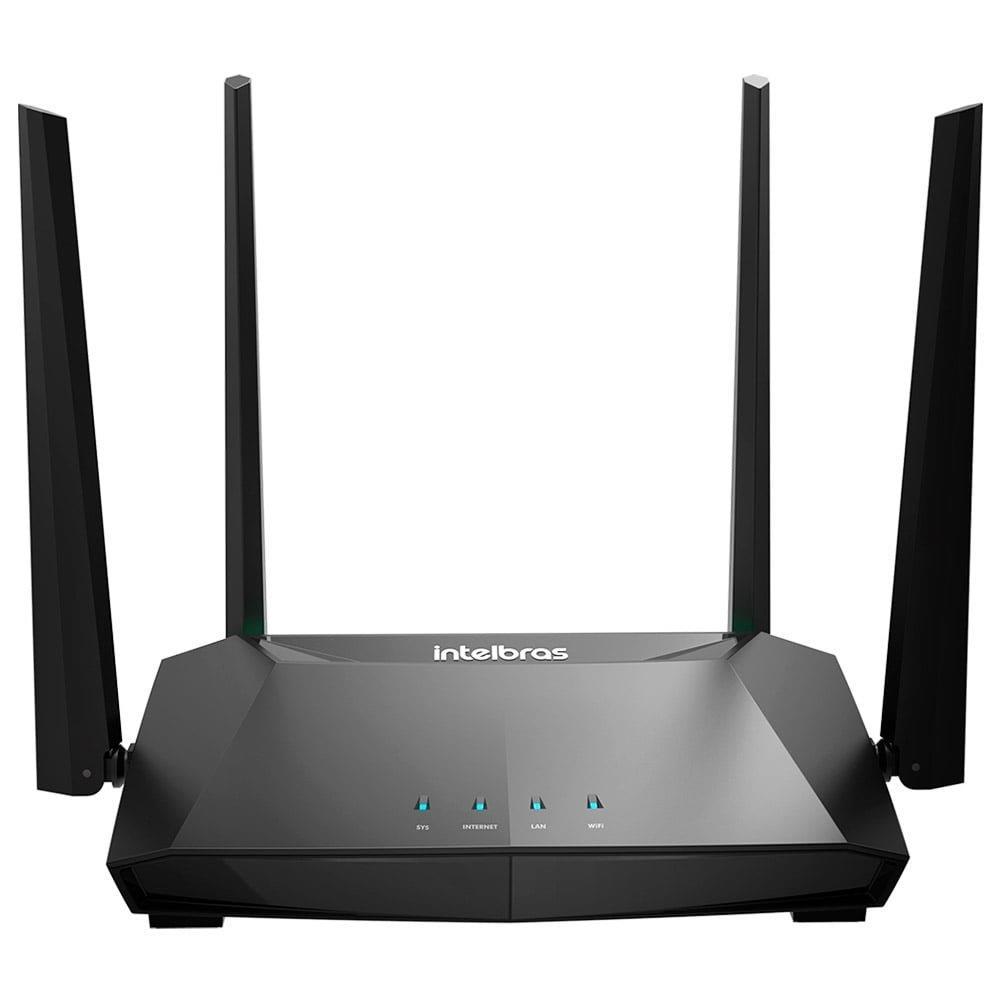 Foto 1 - Roteador Wireless Intelbras, Action RG 1200, 300Mbps, 4 Portas, 4 antenas fixas de 5 dBi