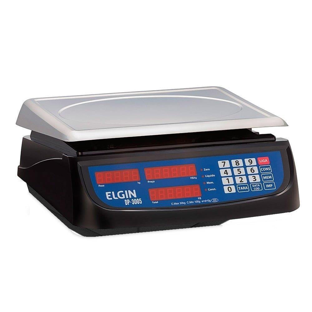 Balança Elgin DP300 30kg/5g com Bateria Recarregável Bivolt