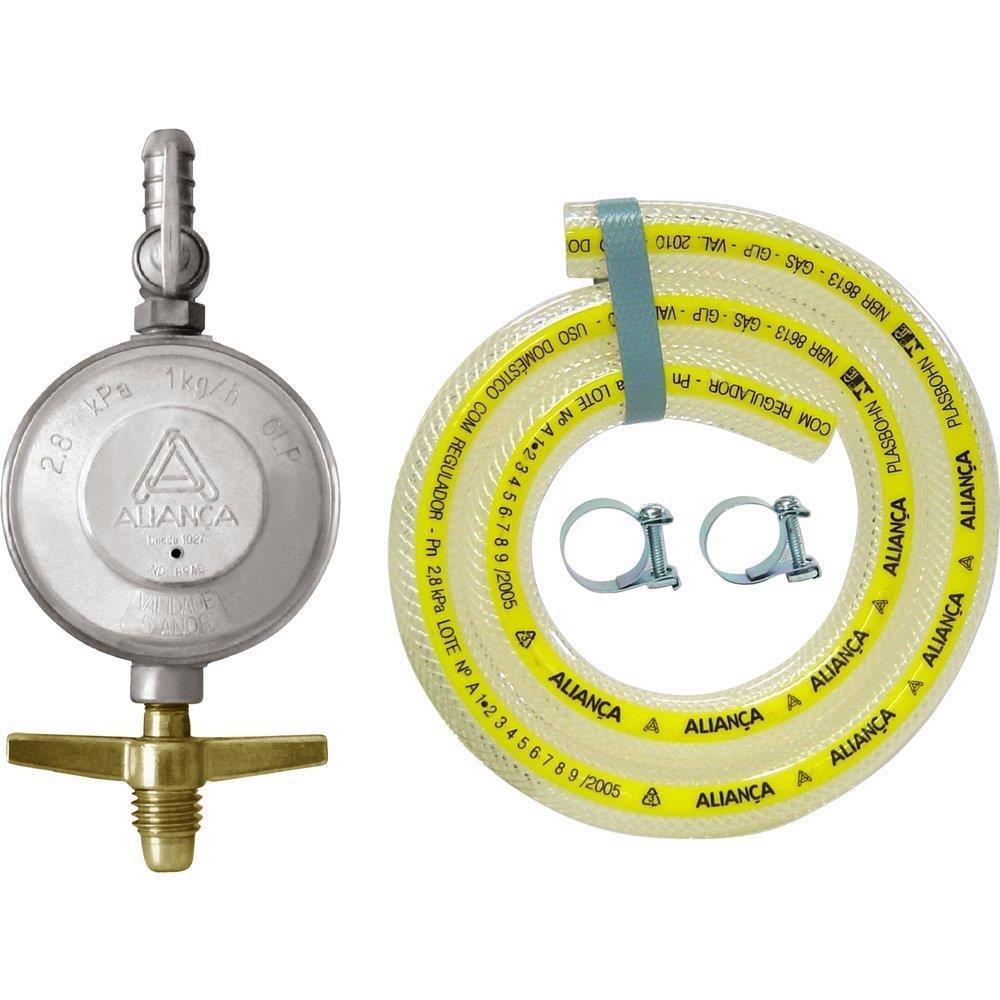 Regulador para Gás Aliança 504/01 Médio com Mangueira 120cm