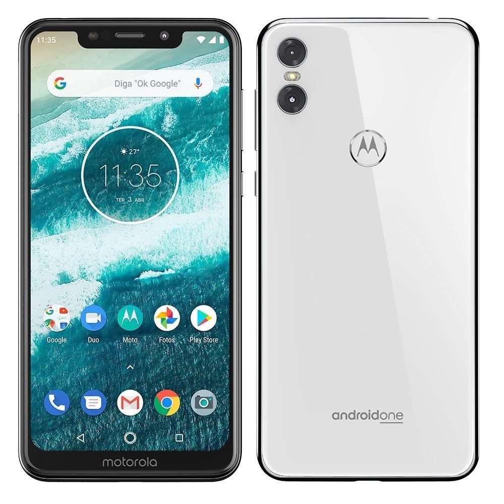 "Smartphone Motorola One, Dual Chip, Branco, Tela 5,86"", 4G+WIFI+NFC, Android,..."