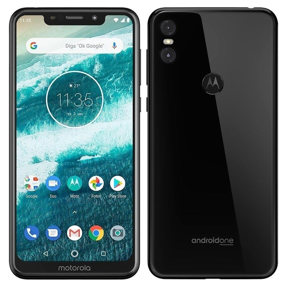 "Smartphone Motorola One, Dual Chip, Preto, Tela 5,86"", 4G+WIFI+NFC, Android,..."
