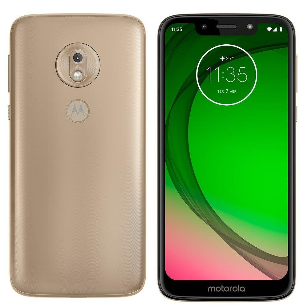 "Smartphone Motorola Moto G7 Play Ouro, Dual Chip, Tela 5,7"", 4G+Wi-Fi, Android,..."