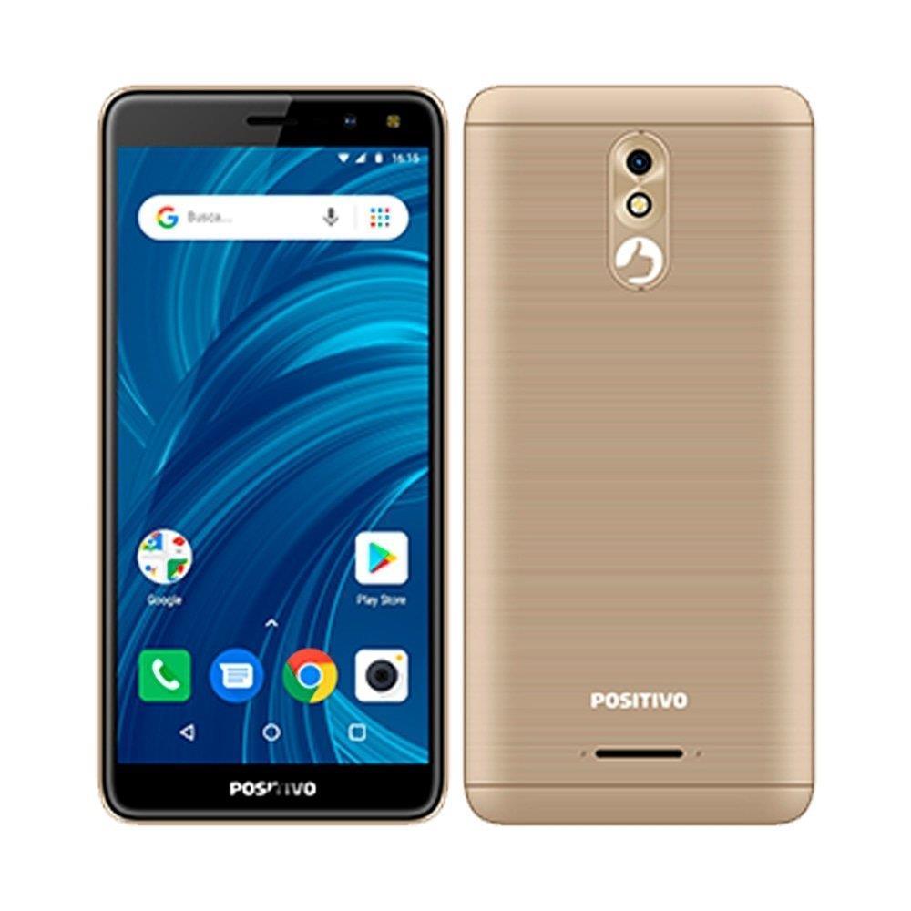 "Smartphone Positivo Twist Pro, Dual Chip, Dourado, Tela 5.7"", 3G+WiFi, Android..."