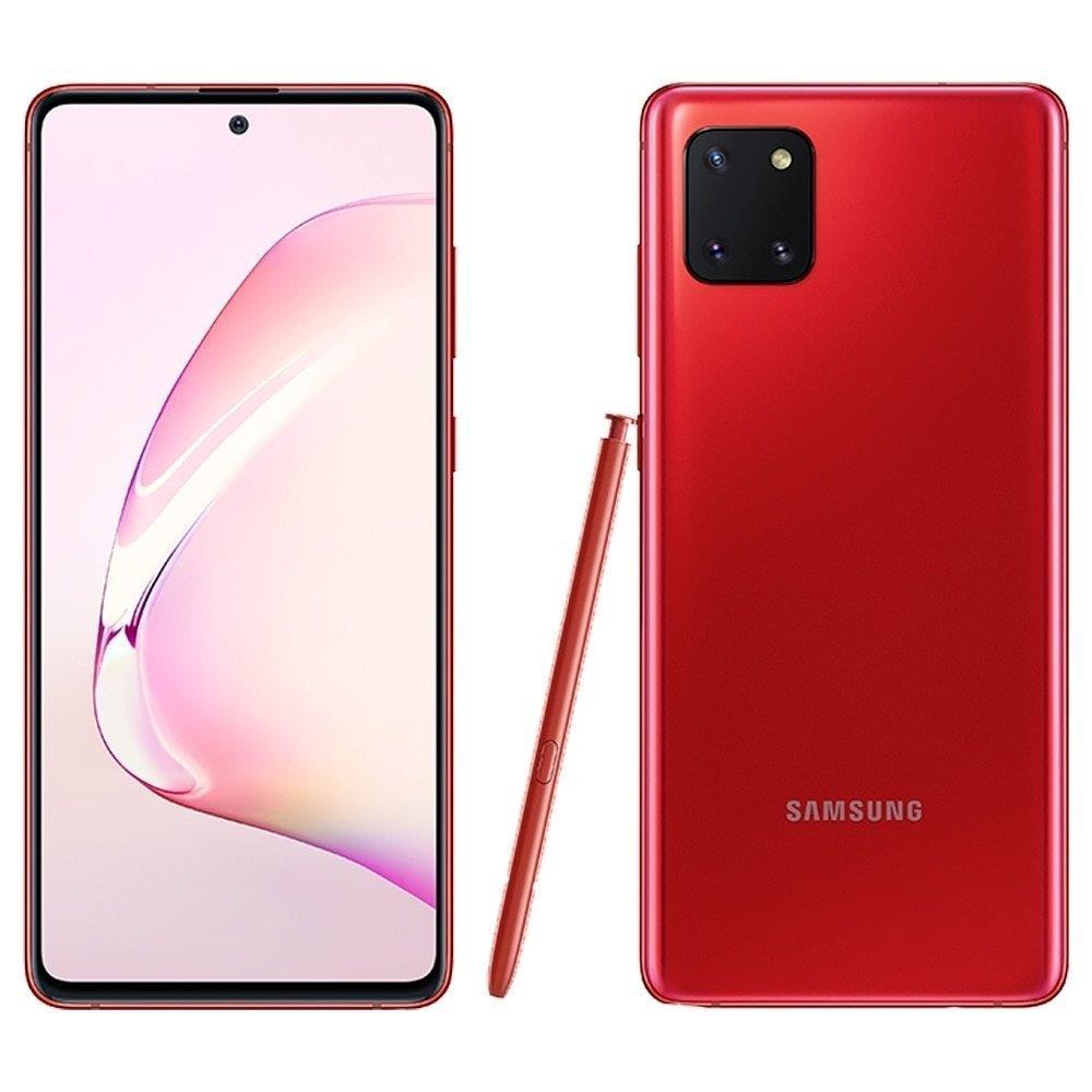 """Smartphone Samsung Galaxy Note 10 Lite, Vermelho , Tela 6.7"""", 4G+Wi-Fi+NFC, Câm..."""