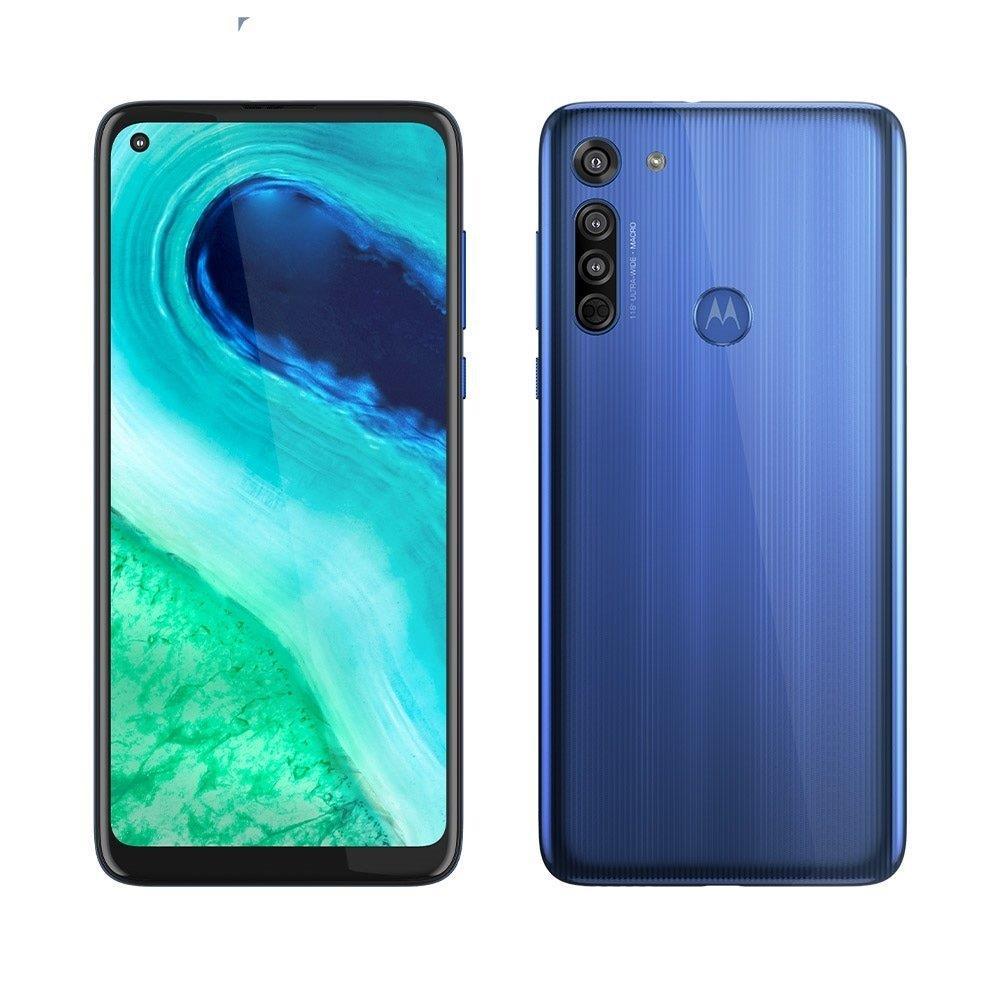 """Smartphone Motorola Moto G8, Azul Capri, Dual Chip, Tela 6,4"""", Câm Traseira..."""