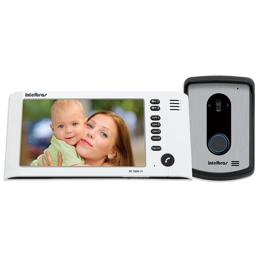"""Video Porteiro Intelbras IV 7010HF Monitor LCD 7"""" Branco"""