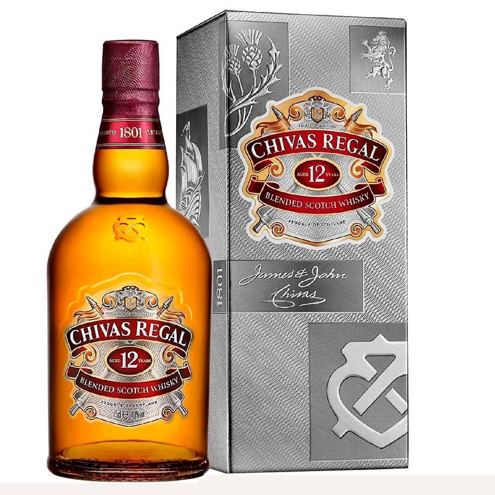 Whisky Escocês 12 Anos Garrafa 750ml - Chivas Regal