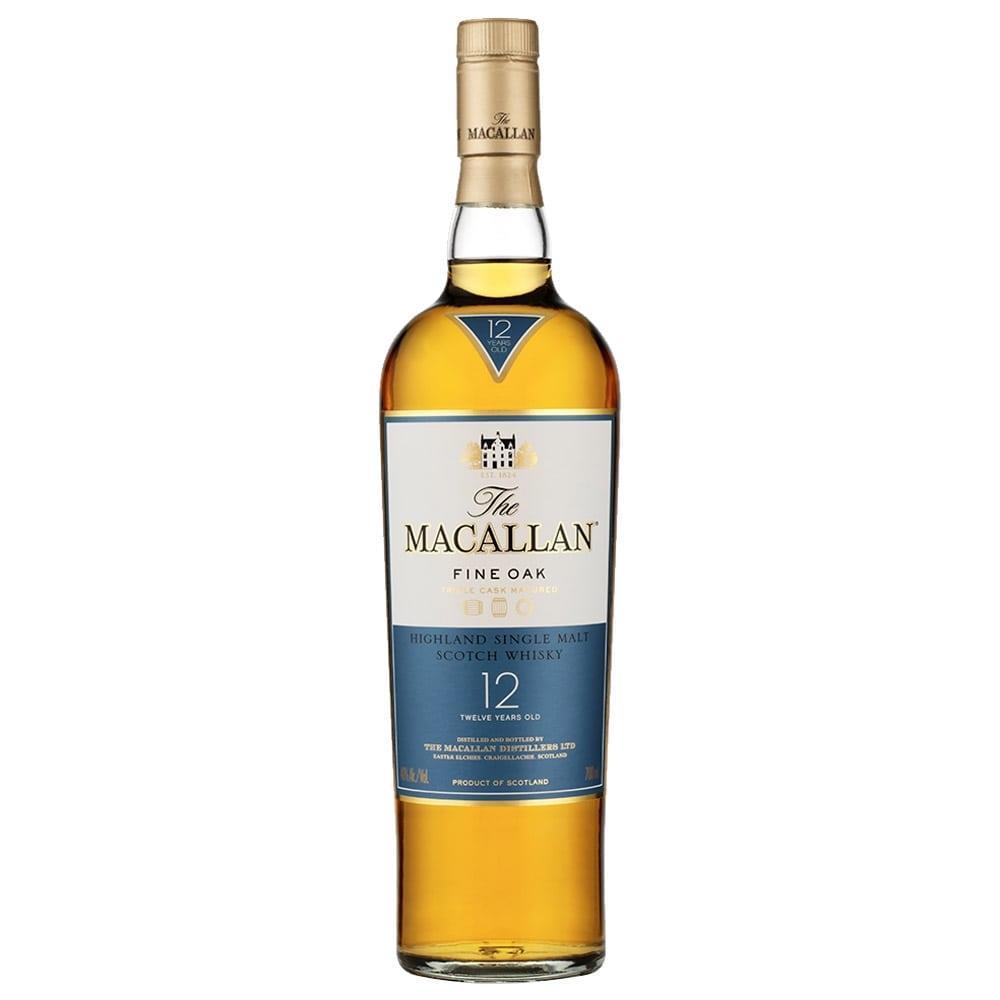 Whisky Escocês 12 Anos The Macallan Fine Oak Single Malt Garrafa 700ml