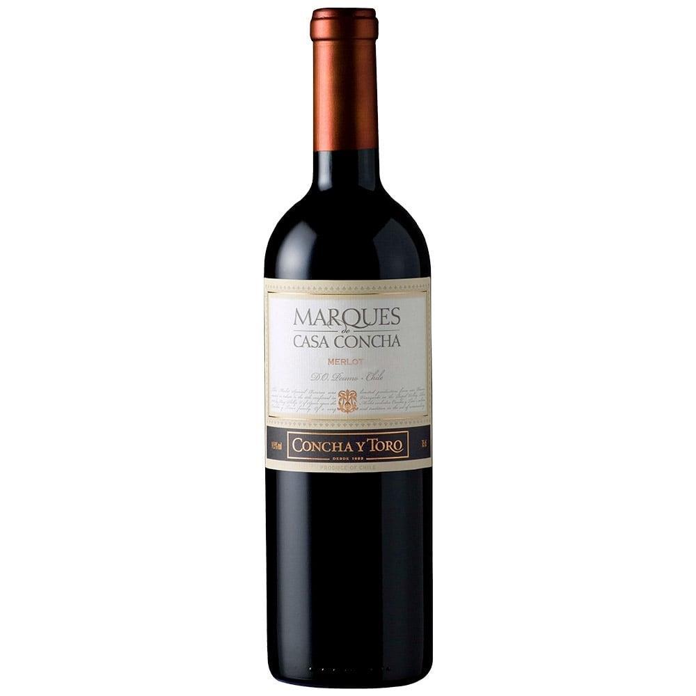 Vinho Chileno Marques Casa Concha Merlot Tinto Seco Garrafa 750ml - Concha Y...
